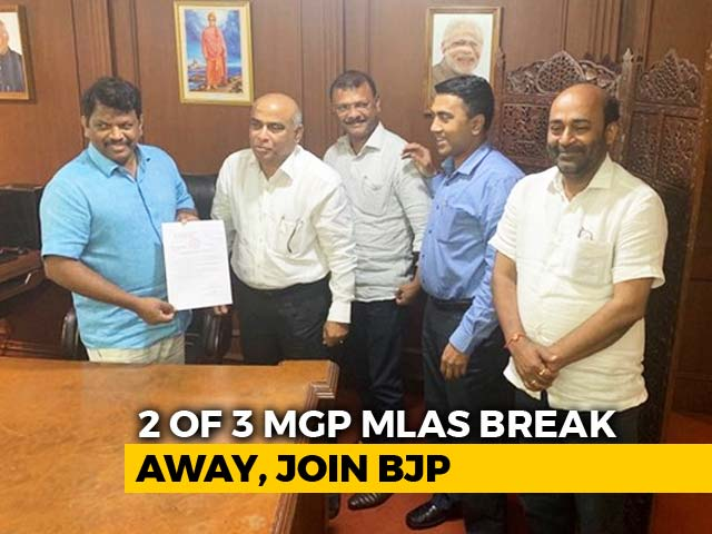 Video : Goa BJP Gains As Two Lawmakers From Ally Join In 2 am Switch
