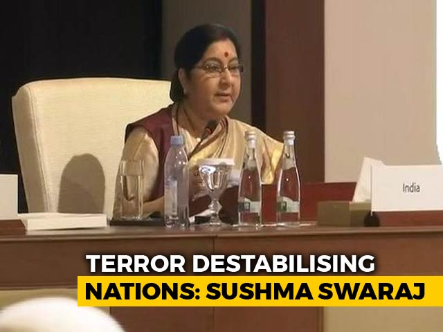 Video : At Islamic Nations (OIC) Meet, Sushma Swaraj Points To Pak Hand In Terror