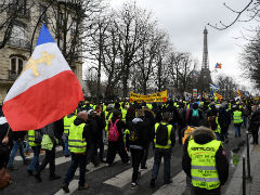 "France's ""Yellow Vest"" Protests March For 16th Straight Week"
