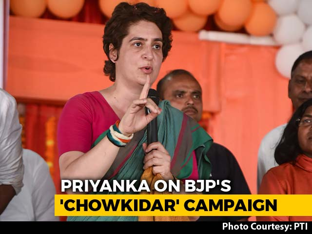 "Video : ""The Rich Have Chowkidar, Farmers Don't"": Priyanka Gandhi's Dig At PM"