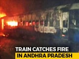 Video : Train From Bengaluru Catches Fire, Many Trains In Andhra Pradesh Delayed