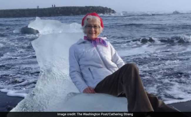 Grandma Sat On Iceberg For A Photo. Then She Drifted Out To Sea