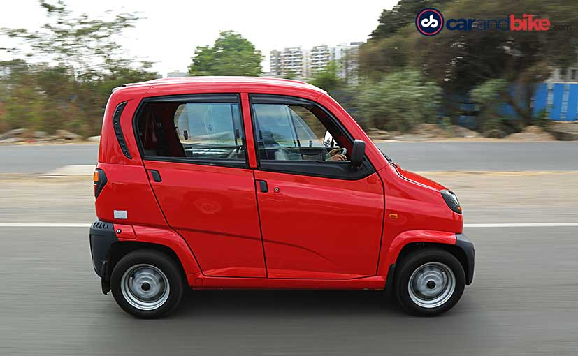 The Bajaj Qute will be offered in a petrol and in a CNG variant