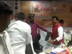 """<i>Bharatiya Joota Party</i>"": Congress Barb On Shoe Fight Between BJP Leaders"