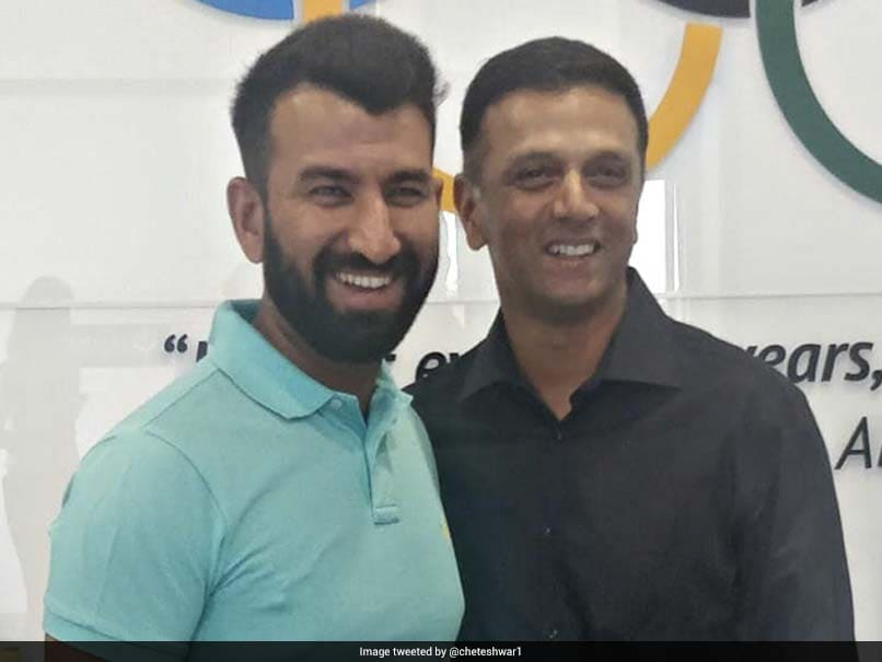 Cheteshwar Pujara Posts this Photo With Rahul Dravid