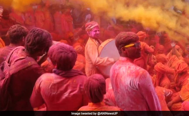 Barsana Holi: Celebrations In Mathura With Laddus, Dance, Riot Of Colours