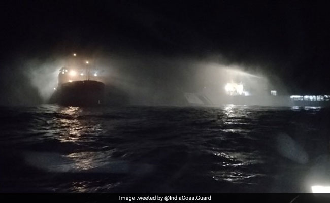 Fire On Ship Off Karnataka Coast; 16 Scientists, Crew Rescued