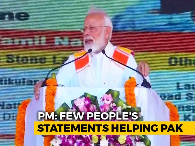 "Video : ""Helping Pak, Harming India"": PM Modi Hits Back After Opposition's Attack"