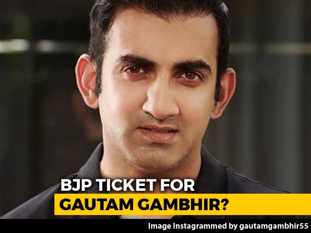 Video : Ex-Cricketer Gautam Gambhir May Be BJP Candidate From New Delhi: Sources