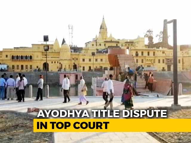 Video : Supreme Court Reserves Order On Court-Monitored Mediation In Ayodhya Case
