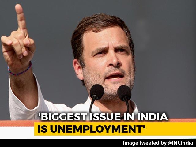 "Video : ""Anil Ambani Can't Even Make A Paper Plane"": Rahul Gandhi's Rafale Jibe"