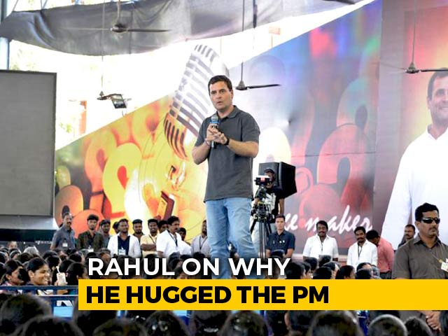 "Video : ""PM Was Talking About How Filthy We Were"": Rahul Gandhi Remembers His Hug"