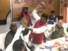 Watch: BJP Lawmakers Thrash Each Other With Shoes In Fight For Credit