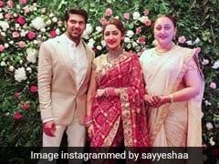 Pics From Saira Banu's Grandniece Sayyeshaa Saigal And Arya's Chennai Reception