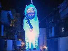 Effigy Of Masood Azhar Set On Fire For Holi In Mumbai