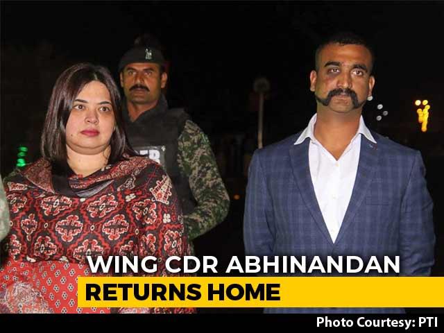 "Video : ""Good To Be Back"": Pilot Abhinandan Varthaman, Captured By Pak, Returns"