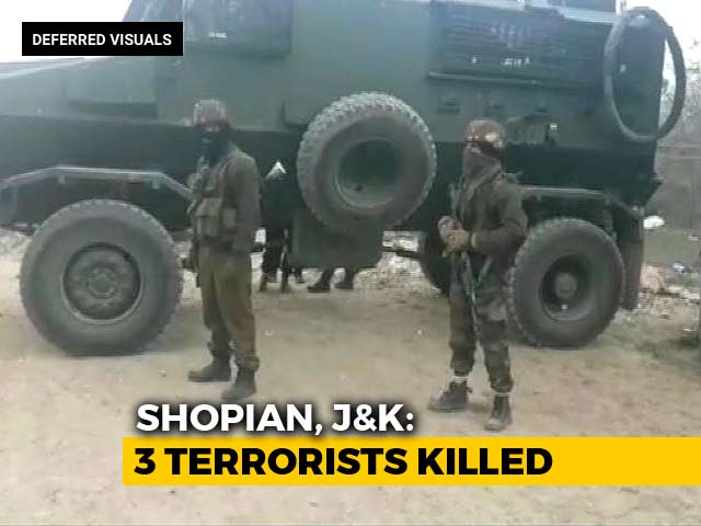 Video : 3 Terrorists Killed In Encounter In Jammu And Kashmir's Shopian