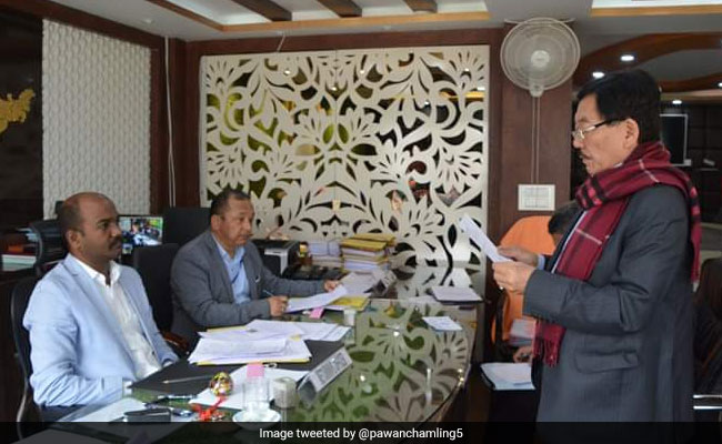 Sikkim Chief Minister Files Nomination Papers From 2 Assembly Seats