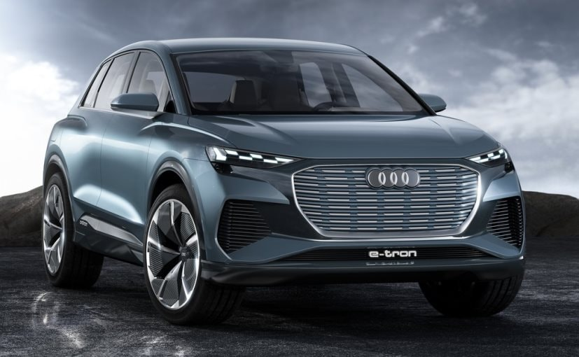 The Audi Q4 e-tron concept is a compact four-door SUV with max output of 225 kW (302 bhp)