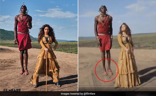 सारा अली खान के पीछे खड़े इस लंबे शख्स की खुली पोल, फोटोग्राफर ने अपनाई ये ट्रिक- देखें Video