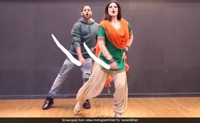 जरीन खान ने 'लगदी लाहौर दी आ' सॉन्ग पर किया धमाकेदार डांस, झट से वायरल हो गया Video