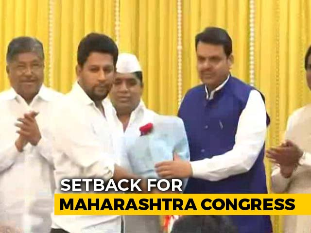 Video : Setback For Congress, Son Of Maharashtra Leader Of Opposition Joins BJP