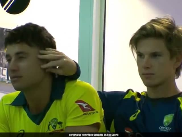 Marcus Stoinis And Adam Zampas PDA Is Breaking The Internet - Watch