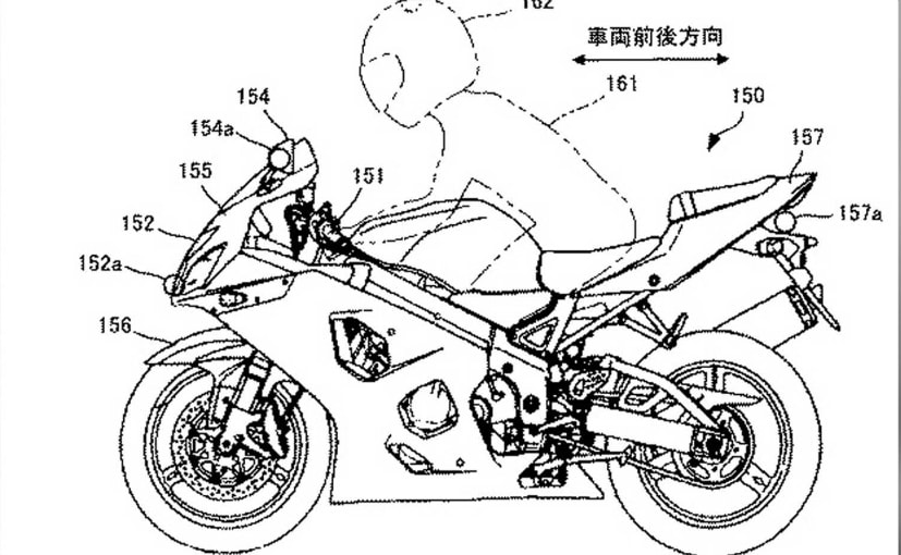 Patent images reveal Suzuki's latest radar reflector technology for motorcycles