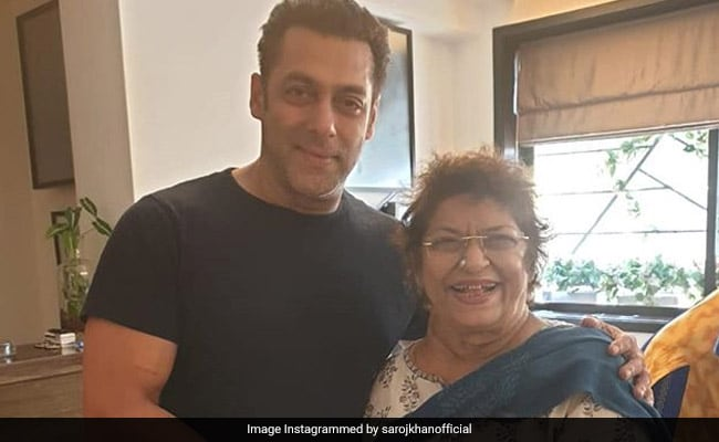 Salman Khan stands by Saroj Khan after she runs out of work in the industry