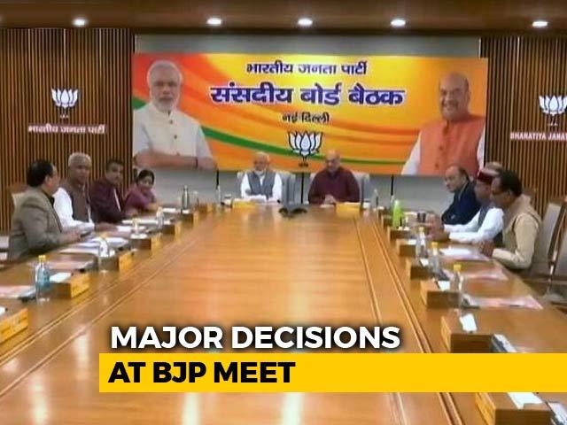 Video : BJP Finalises Lok Sabha Poll Strategy In Parliamentary Board Meet