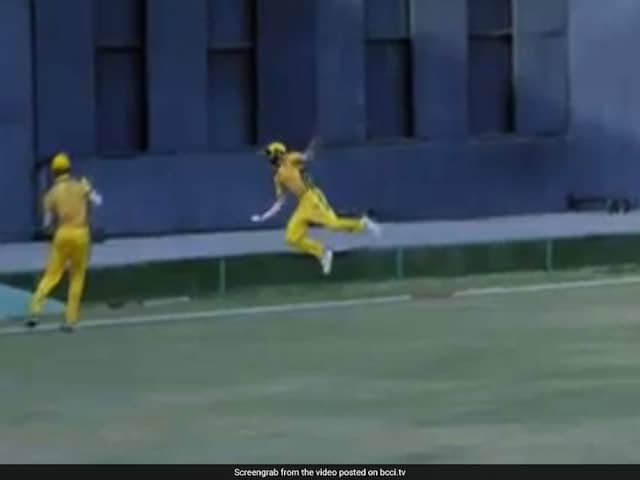 Fielder Pulls Off Remarkable Relay Catch In Syed Mushtaq Ali T20 Tournament. Watch