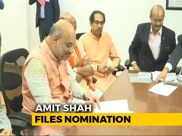 Video : Amit Shah Files Nomination From Gandhinagar After NDA's Show Of Strength