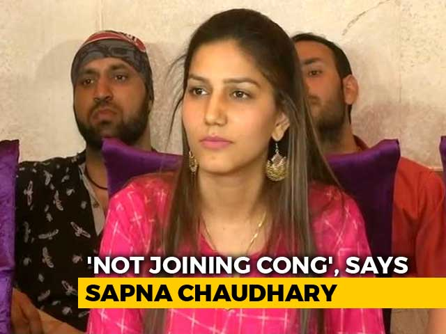 Dancer Sapna Chaudhary Denies Joining Congress Ahead Of Polls