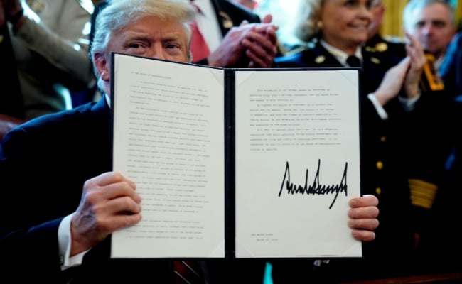 Trump Signs His First Veto Against Resolution Blocking Emergency Declaration