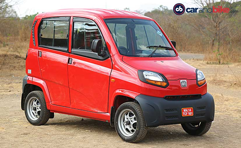 The Bajaj Qute is India's first quadricycle