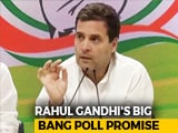 "Video : ""Final Assault On Poverty Has Begun"": Rahul Gandhi's Big Election Promise"
