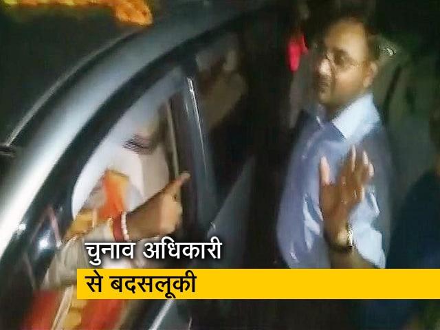 Videos : गाड़ी रोके जाने से भड़के केंद्रीय मंत्री, जेल ले जाने की दी चुनौती