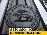 "Video : RBI Had Objections To Notes Ban, Agreed In ""Public Interest"", Reveals RTI"