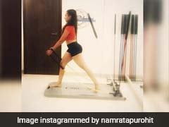 Pilates Trainer Namrata Purohit Trying Hard To Balance On CoreStix Is The Best Fitspiration You Can Get Today