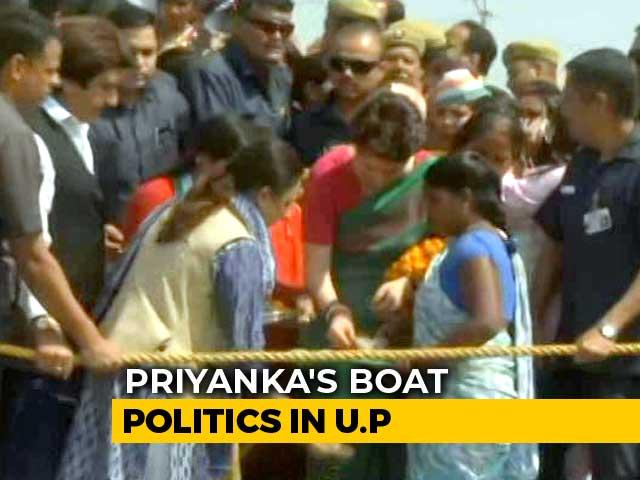 Video : Priyanka Gandhi's Campaign On Ganga Today, Destination PM Modi's Varanasi