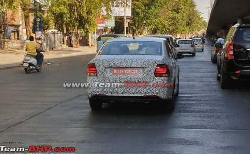 Volkwagen Vento and Polo Facelift have been spotted testing in Maharashtra