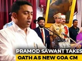 Video : BJP's Pramod Sawant Takes Oath As Goa Chief Minister At 2 am