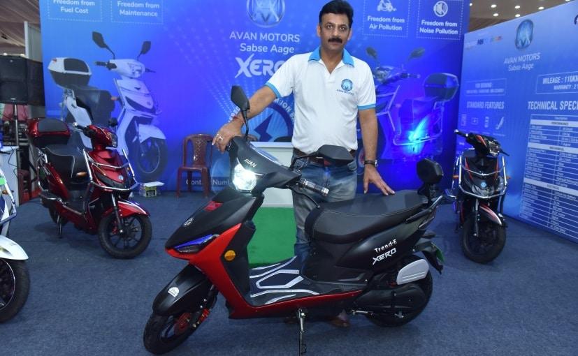 Pankaj Tiwari Business Development Head Avan Motors Unveiling Trend E electric scooter