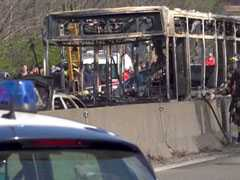 Driver Hijacks, Sets School Bus On Fire In Italy, Children Escape Unhurt