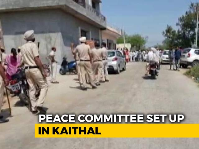 "Video : Haryana Village Turns To ""Peace Committee"" After Man Dies In Clashes"