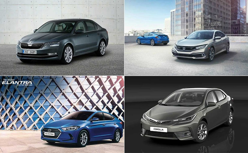 Honda Civic vs Toyota Corolla Altis vs Skoda Octavia vs Hyundai Elantra: Spec Comparison