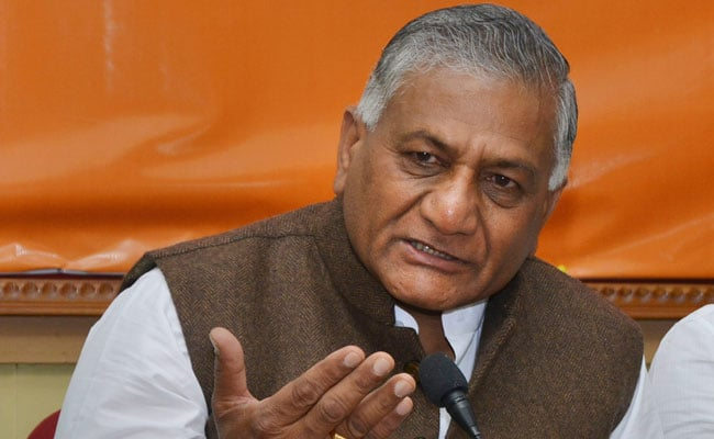 VK Singh Leading From Ghaziabad With Over 6 Lakh Votes