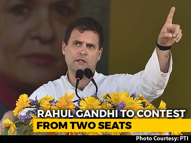 Video : Rahul Gandhi To Contest Second Seat From Kerala's Wayanad Besides Amethi