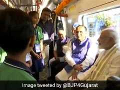 PM Modi Flags Off Ahmedabad Metro, Takes Inaugural Ride