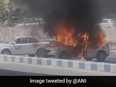 Taxi Parked Outside Coimbatore Airport Catches Fire, Goes Up In Flames